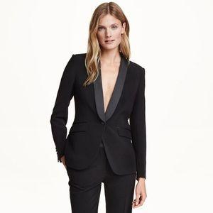 H&M Tuxedo Jacket in Black